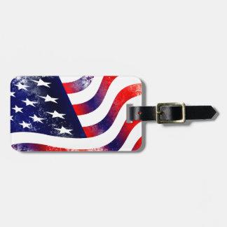 USA FLAG BAG TAG