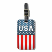 USA Flag Bag Tag
