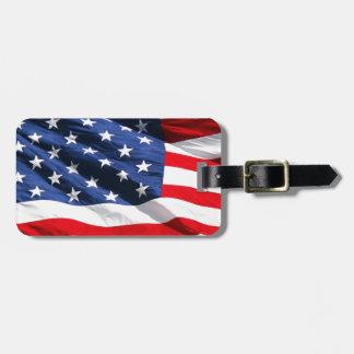USA Flag Bag Tags