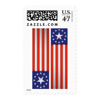 USA Flag Bannner Postage