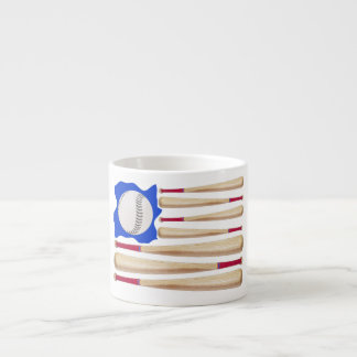 USA Flag Baseball Theme Espresso Mug