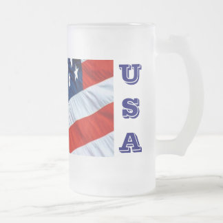 USA Flag Beer Stein