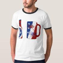 USA Flag Beer T-Shirt