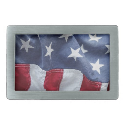 USA flag belt buckle