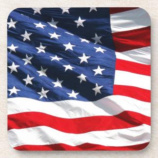 USA Flag Beverage Coaster