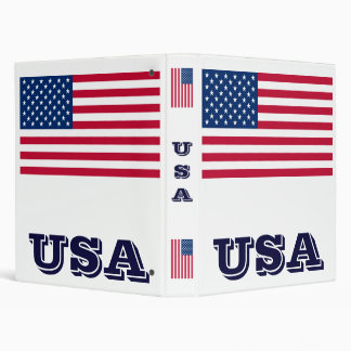 USA Flag Binder