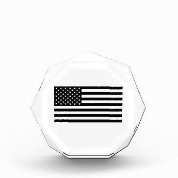 USA Themed USA Flag - Black and White Stencil Acrylic Award