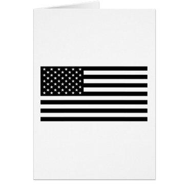 USA Themed USA Flag - Black and White Stencil Card