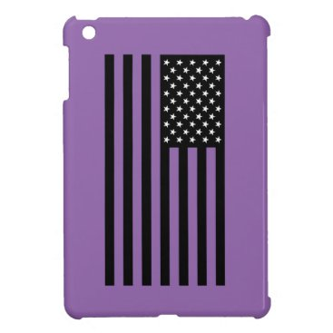 USA Themed USA Flag - Black and White Stencil iPad Mini Cases