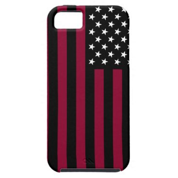USA Themed USA Flag - Black and White Stencil iPhone SE/5/5s Case