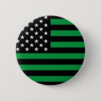 USA Flag - Black and White Stencil Pinback Button