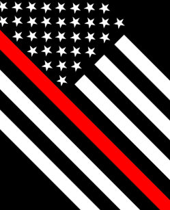 1ffd4d324 USA Flag Black and White Thin Red Line Small Christmas Stocking