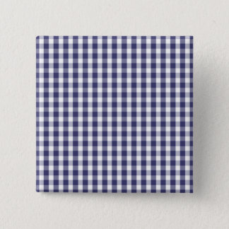USA Flag Blue and White Gingham Checked Button