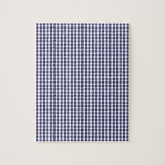 USA Flag Blue and White Gingham Checked Jigsaw Puzzle