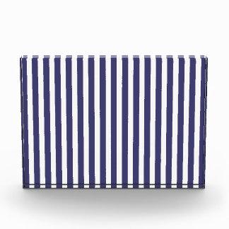 USA Flag Blue and White Stripes Acrylic Award