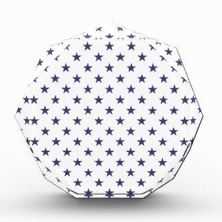 USA Flag Blue Stars on White Acrylic Award