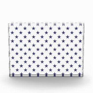 USA Flag Blue Stars on White Award
