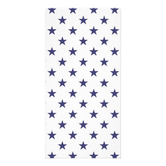 USA Flag Blue Stars on White Card