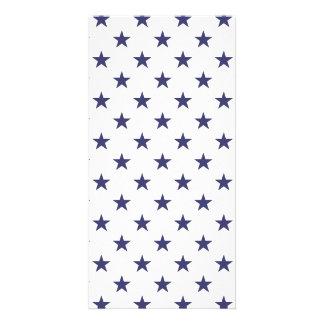 USA Flag Blue Stars on White Card
