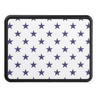 USA Flag Blue Stars on White Tow Hitch Cover