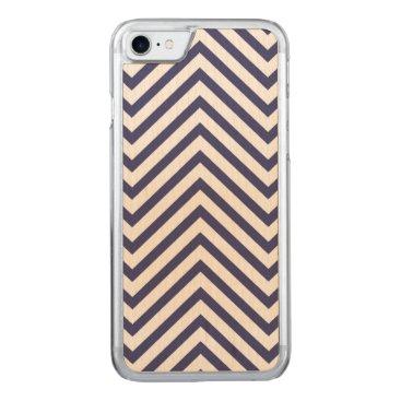 USA Themed USA Flag Blue & White Wavy ZigZag Chevron Stripes Carved iPhone 8/7 Case