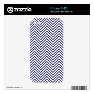 USA Flag Blue & White Wavy ZigZag Chevron Stripes Decals For iPhone 4