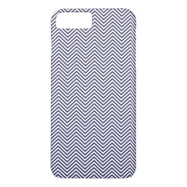 USA Themed USA Flag Blue & White Wavy ZigZag Chevron Stripes iPhone 7 Plus Case