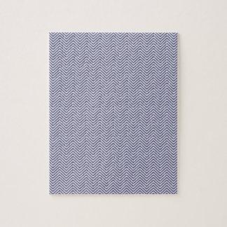 USA Flag Blue & White Wavy ZigZag Chevron Stripes Puzzle