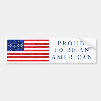 USA FLAG Bumper Sticker Car Bumper Sticker