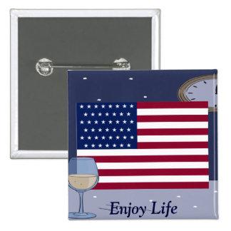 USA Flag_ Buttons