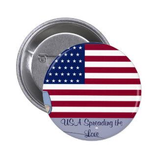 USA Flag_ Pinback Button