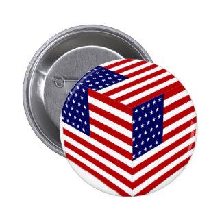 USA Flag_ Pinback Buttons