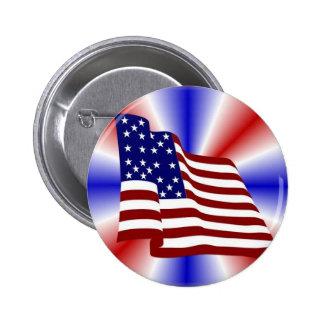 USA Flag Pinback Buttons