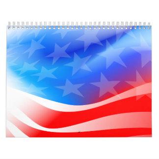 USA flag Calendar