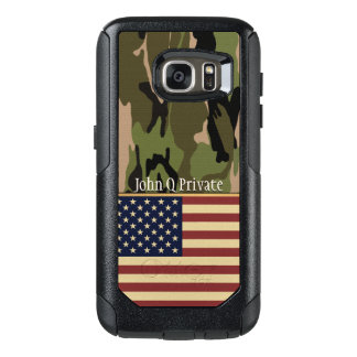 USA Flag Camo Name Template OtterBox Samsung Galaxy S7 Case