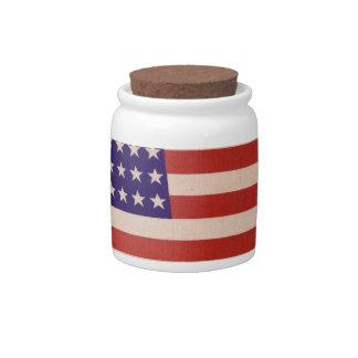 USA Flag Candy Jar