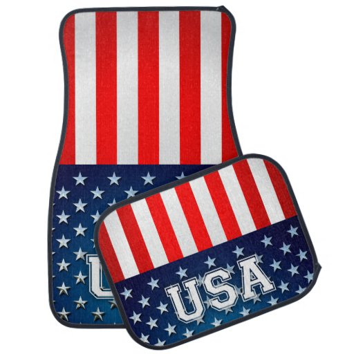 Usa Flag Car Mat Zazzle