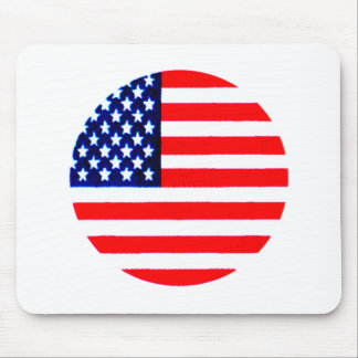USA Flag Circle Tdhe MUSEUM Zazzle Mouse Pad