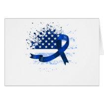 USA Flag Colon Cancer Suppor
