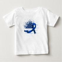 USA Flag Colon Cancer Suppor Baby T-Shirt
