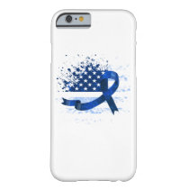 USA Flag Colon Cancer Suppor Barely There iPhone 6 Case
