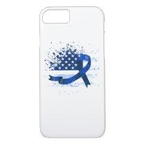 USA Flag Colon Cancer Suppor iPhone 8/7 Case