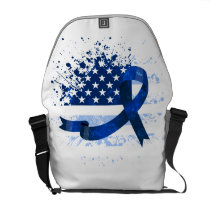 USA Flag Colon Cancer Suppor Courier Bag