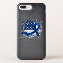 USA Flag Colon Cancer Suppor Speck iPhone Case
