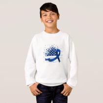 USA Flag Colon Cancer Suppor Sweatshirt