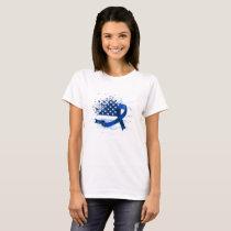 USA Flag Colon Cancer Suppor T-Shirt