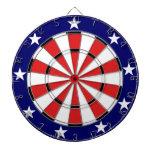USA Flag colors Dart Board