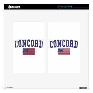 """usa flag""""Concord NC""""NC""""NORTH CAROLINA""""Con Kindle Fire Skins"