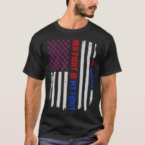 USA Flag Congenital Heart Disease CHD Awareness T-Shirt