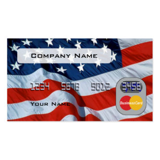 Usa Flag Credit Card Double-Sided Standard Business Cards (Pack Of 100)